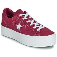 Sko Dame Lave sneakers Converse ONE STAR PLATFORM SUEDE OX  fuchsia / Hvid