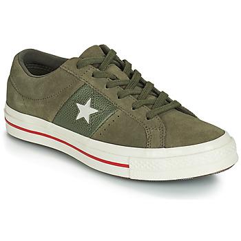 Sko Dame Lave sneakers Converse ONE STAR CUIR FASHION BALLER SUEDE OX Kaki