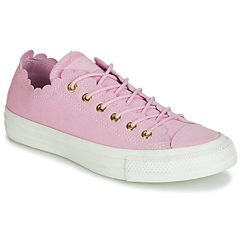Sko Dame Lave sneakers Converse CHUCK TAYLOR ALL STAR FRILLY THRILLS SUEDE OX Pink