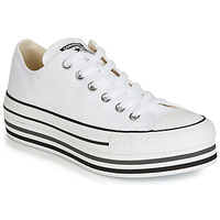 Sko Dame Lave sneakers Converse CHUCK TAYLOR ALL STAR PLATFORM EVA LAYER CANVAS OX Hvid