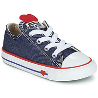 Sko Pige Lave sneakers Converse CHUCK TAYLOR ALL STAR SUCKER FOR LOVE DENIM OX Blå