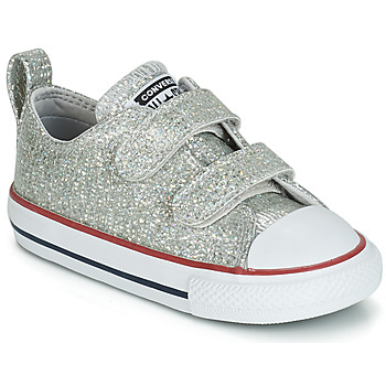 Sko Pige Lave sneakers Converse CHUCK TAYLOR ALL STAR 2V SPARKLE SYNTHETIC OX Grå