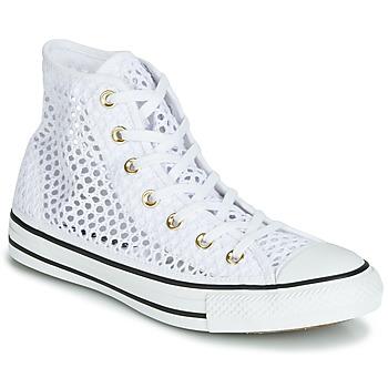 Sko Dame Høje sneakers Converse CHUCK TAYLOR ALL STAR HANDMADE CROCHET HI Hvid