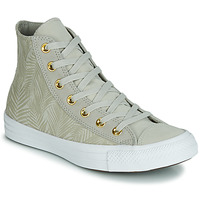 Sko Dame Høje sneakers Converse CHUCK TAYLOR ALL STAR SUMMER PALMS HI Grøn