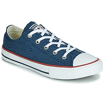 Sko Pige Lave sneakers Converse CHUCK TAYLOR ALL STAR BROADERIE ANGLIAS OX Marineblå