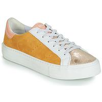 Sko Dame Lave sneakers No Name ARCADE Hvid / Guld / Gul