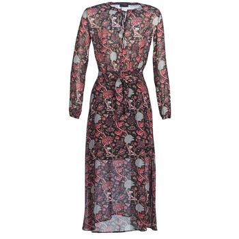 textil Dame Lange kjoler Ikks  Sort / Rød / Grå