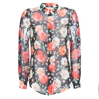 textil Dame Skjorter / Skjortebluser Guess CLOUIS Sort / Flerfarvet