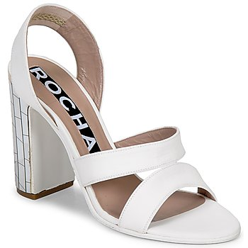 Sko Dame Sandaler Rochas RO18244 Hvid