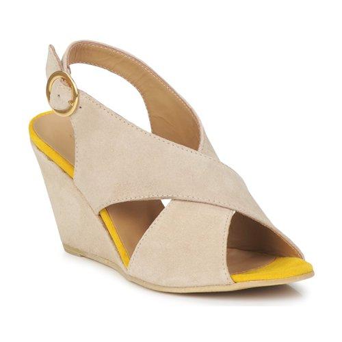 Sko Dame Sandaler Pieces OTTINE SHOP SANDAL Muldvarpegrå