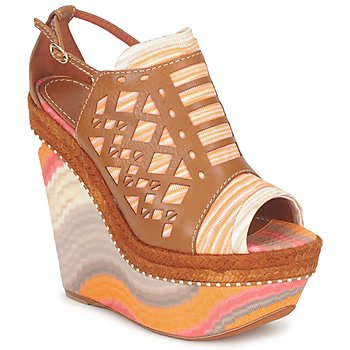 Sko Dame Sandaler Missoni TM22 Brun / Orange