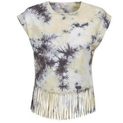 textil Dame T-shirts m. korte ærmer Moony Mood CACILIA Grå / Gul