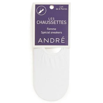 Accessories Dame Strømper André FOOTIES Hvid