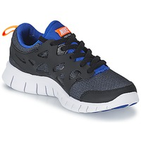 Sko Dreng Lave sneakers Nike FREE RUN 2 JUNIOR Sort / Blå