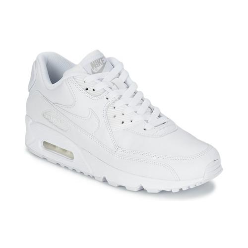 Nike Air Max 90 Gs Læder Dame hvid
