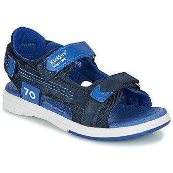 Sko Dreng Sandaler Kickers PLANE Marineblå