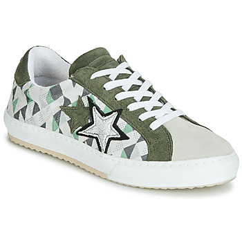 Sko Dame Lave sneakers Mustang 2874302-277 Kaki / Hvid