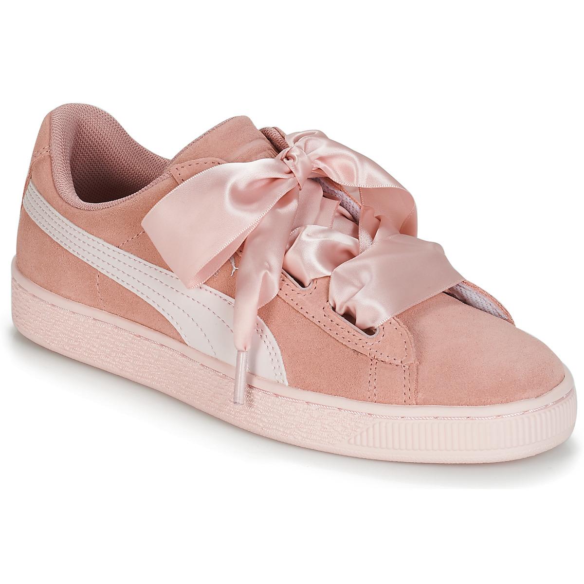 Sneakers til børn Puma  JR SUEDE HEART JEWEL.PEACH