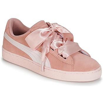 Sko Pige Lave sneakers Puma JR SUEDE HEART JEWEL.PEACH Pink