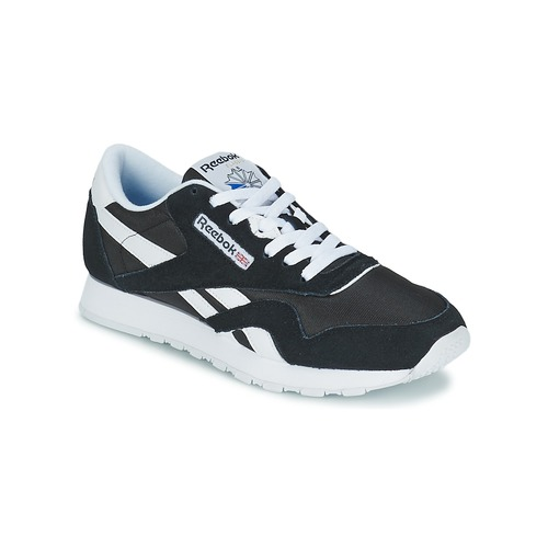 Sko Lave sneakers Reebok Classic CL NYLON Sort / Hvid