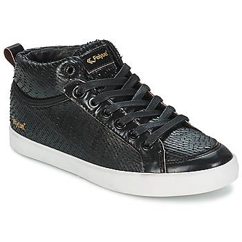 Sko Dame Høje sneakers Feiyue DELTA MID DRAGON Sort