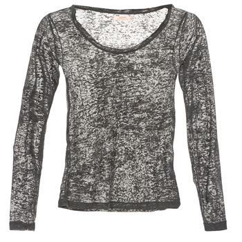 textil Dame Langærmede T-shirts DDP ACAFA Grå