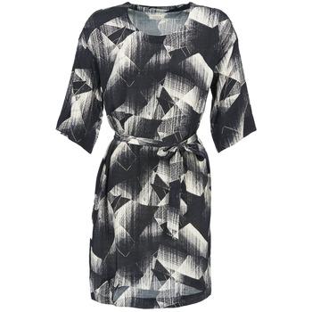 textil Dame Korte kjoler Nümph GINGER Sort / Hvid