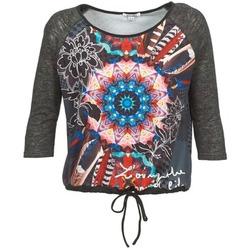 textil Dame Langærmede T-shirts Smash ANNABEL 42 Grå / Flerfarvet