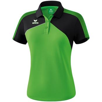 textil Dame Polo-t-shirts m. korte ærmer Erima Polo femme  Premium One 2.0 vert/noir/blanc