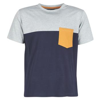 textil Herre T-shirts m. korte ærmer Casual Attitude JERMENE Grå / Marineblå