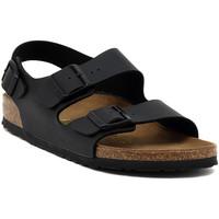 Sko Sandaler Birkenstock MILANO BLACK CALZ S Multicolore