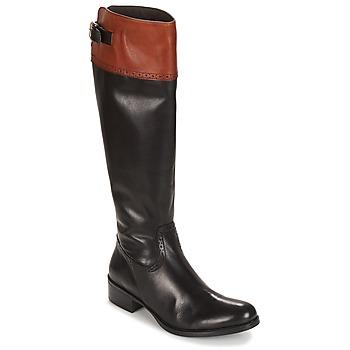 Sko Dame Chikke støvler Moda In Pelle TULSY Sort