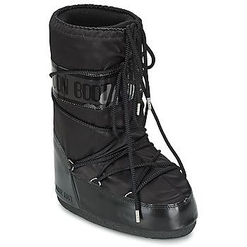 Sko Dame Vinterstøvler Moon Boot MOON BOOT GLANCE Sort