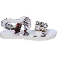 Sko Dame Sandaler Ioannis sandali bianco tessuto strass BT873 Bianco