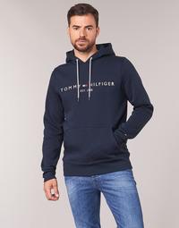 textil Herre Sweatshirts Tommy Hilfiger TOMMY LOGO HOODY Marineblå