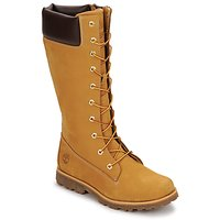 Sko Børn Chikke støvler Timberland GIRLS CLASSIC TALL LACE UP WITH SIDE ZIP Cognac