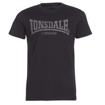 textil Herre T-shirts m. korte ærmer Lonsdale LOGO KAI Sort
