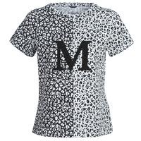 textil Dame T-shirts m. korte ærmer Marciano RUNNING WILD Sort / Hvid
