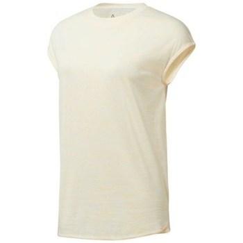 textil Dame T-shirts m. korte ærmer Reebok Sport EL Marble Tee Beige