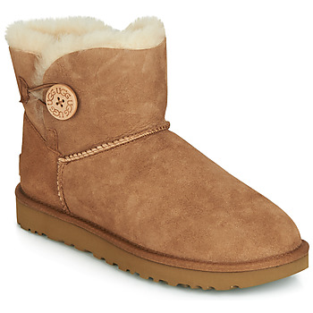 Sko Dame Støvler UGG MINI BAILEY BUTTON II Kamel