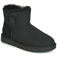 Sko Dame Støvler UGG MINI BAILEY BUTTON II Sort