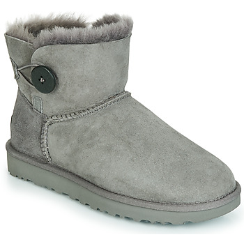 Sko Dame Støvler UGG MINI BAILEY BUTTON II Grå