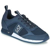 Sko Herre Lave sneakers Emporio Armani EA7 BLACK&WHITE LACES U Blå