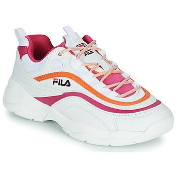 Sko Dame Lave sneakers Fila RAY CB LOW WMN Hvid / Pink / Orange