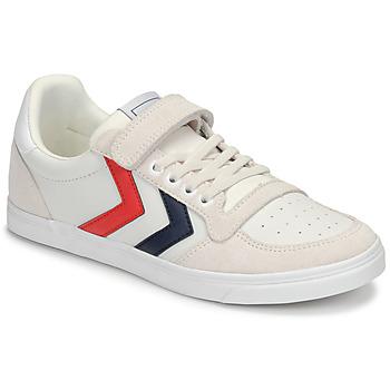 Sko Børn Lave sneakers Hummel SLIMMER STADIL LEATHER LOW JR Hvid