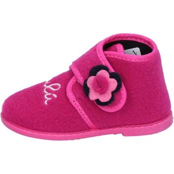 Sko Pige Tøfler Lulu pantofole rosa fucsia tessuto BS28 Rosa