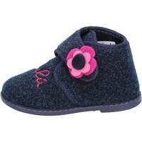 Sko Pige Tøfler Lulu pantofole blu tessuto BS29 Blu