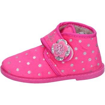 Sko Pige Tøfler Lulu pantofole rosa fucsia tessuto BS44 Rosa