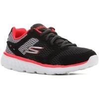 Sko Børn Løbesko Skechers Go Run 400 97681L-BGRD black, red, grey