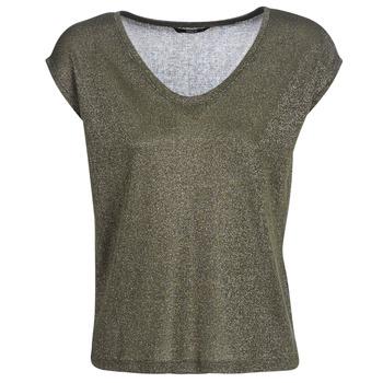 textil Dame T-shirts m. korte ærmer Only ONLSILVERY Kaki